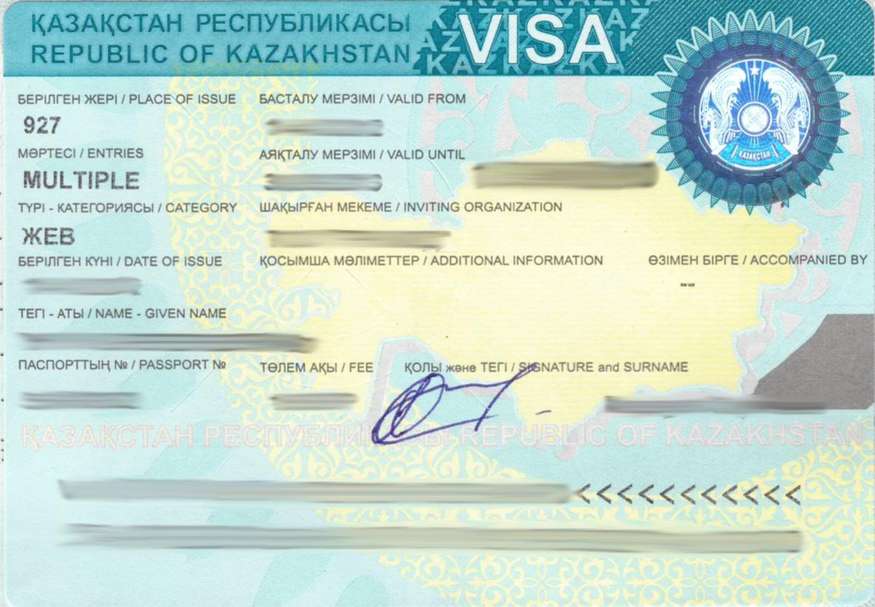 Kazakh visa sample anyvisa embassies and consulates listing a z altavistaventures Choice Image